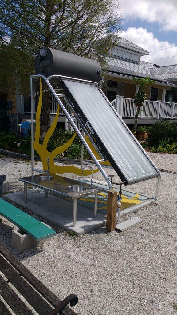 Sun power! One of the Florida House's impressive solar panels.